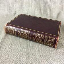 Antik Jewish Prayer Buch Judaica Leder Hebräisch Englisch Succot Tabernacles