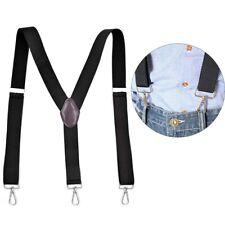Men Suspenders Stylish Y-Back 3 Swivel Hook Clip-Ends Heavy Duty Work Adjustable