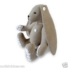 """Lacy Bunny Sewing PATTERN Floppy Eared Bunny Rabbit 11"""" Soft Toy & Instructions"""
