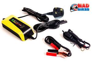 Motobatt Eau Garçon Imperméable 12v/6v Moto Quad Smart Batterie Chargeur