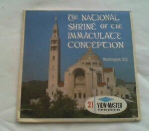 National Shrine of the Immaculate Conception   View Master  Packet  1960s