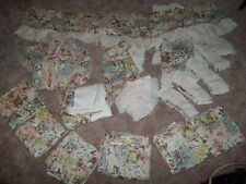 Jcp Floral Canopy Bed Lot/Canopy/Bed Skirt/Curtains/Pillow Shams/Valances/&Ties