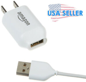 AMAZON USB AC WALL POWER ADAPTER & USB cord cable CHARGER 5V 1A