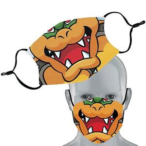 Inspired By Bowser Gaming Elastic Face Mask Double Layer Washable Face Cover