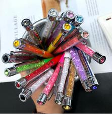 12PCS Bling Crystals Diamond Ballpoint Pens Office School Supply Stationery USPS
