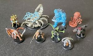D&D Icons of the Realms Mixed Lot of 9 Minis Dungeons and Dragons Wizkids (B)