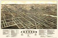 Jackson Michigan - Beck 1881 - 23.00 x 35.34