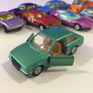 VINTAGE CORGI JUNIORS JR 1982 GREEN FORD ESCORT NM/M 1:64 GT BRITAIN