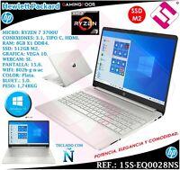 PORTATIL 15,6 HP RYZEN 7 3700U W10 SSD 512GB M2 8GB RADEON VEGA 10 TELETRABAJO