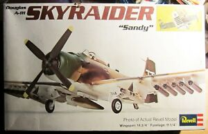 A-1 Skyraider Vintage Revell 1/40th Scale Original 1973 Model Kit-Incomplete?