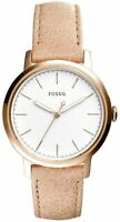 Fossil Women Neely Stainless Steel and Leather Casual Quartz Watch ES4185