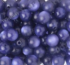 20mm 12pcs Blue/Purple Cat's Eye Beads Chunky Acrylic Gumball Bubble Gum Bead