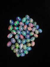 NATURAL ETHIOPIAN OPAL CABOCHON OVAL 6x8mm (5 pieces)