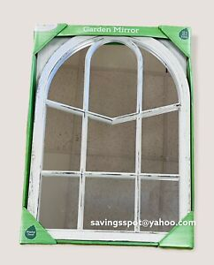 Window Style Garden Mirror Garden Home Wall Mounted 52x37x2.5cm