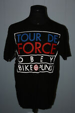 Obey Tour De Force Bike Punx Cycling Black Tee Shirt L