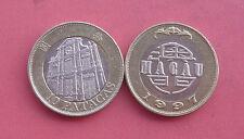 Macao(Macau) 1997 St. Dominic's Church 10 Patacas Bi-metallic Coin Circulated