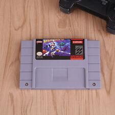 Mega Man X Game Card Cartridge For Super Nintendo SNES Gaming Fun Grey