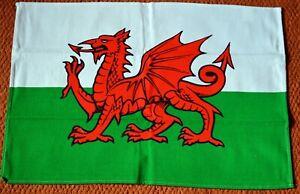 WELSH FLAG WELSH DRAGON design cotton TEA TOWEL,  Wales, Cymru,