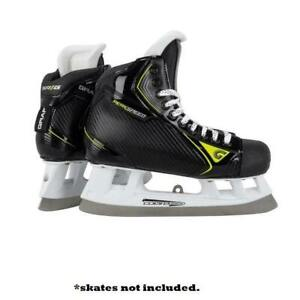 Graf Cowlingless Goalie Skate Replacement Runners! No Cowlings Holders Steel