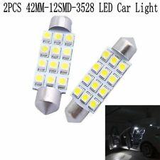 12V 42MM Super Bright Auto Interior Lamp Car LED Light 12SMD 3528 Dome Bulbs