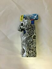 Mystic Skulls and Roses Fits Bic Pewter Lighter Holder Case Cover New