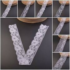 5 Yards Vintage Style Lace Edge Trim White Wedding Sewing Bridal Ribbon Bows