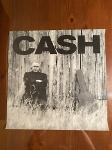 Johnny Cash Unchained Promo Poster 1996 18 X 18 Hardstock Two Sided