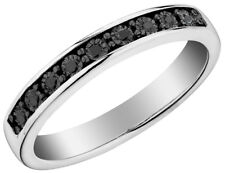 Black Diamond Stackable Ring in Sterling Silver