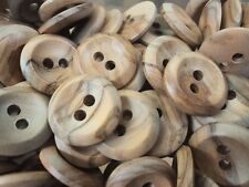 P1978-SOLID NATURAL OLIVE WOOD ROUND ITALIAN BUTTONS 15mm-20mm-23mm-25mm-28mm