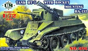 UM-MT Models 1/72 Soviet BT-5 LIGHT TANK  WITH RS-132 ROCKET MOUNTING