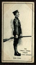 Tobacco Card, Imperial Canada, INFANTRY TRAINING, 1915, Trail Arms, #27