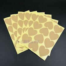 Handmade Heart Shape Sticker Label Kraft Paper Stickers Wedding Seals Bakery~120