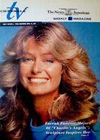 TV Guide 1977 Charlie's Angels Farrah Fawcett Majors Regional EX/NM COA Rare