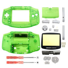 Customized Clear Green Full Housing Shell Case Cover Parts for Game Boy Advance