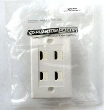 Phantom Cables 4-Port HDMI Wall Plate Kit - White - Female/Female