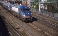 AMTRAK Railroad Train Locomotive 654 ELIZABETH NJ Original 2001 Photo Slide