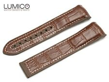 For 20mm 22mm OMEGA SeaMaster Planet BROWN WHITE Rubber Strap Watch Band Clasp