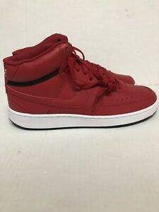 Nike Court Vision Mid CD5436 600 Women's Trainers Red Size 11.5