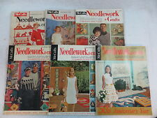 Lot of 6 Vintage MCCALL NEEDLEWORK & CRAFTS 1962-1969 KNITTING CROCHET BARBIE