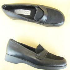 Munro American Loafer Square Toe US 6 M Leather Black Women
