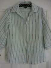 Jaeger Striped Linen Shirt/Blouse/Top 10