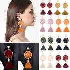 Fashion Bohemian Earrings Womens Long Tassel Boho Fringe Dangle Earrings Jewelry