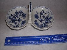 Vintage Blue Danube Blue Onion Loop Twin Relish dish Perfect