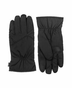 Isotoner Signature Men's Sleekheat Touchscreen Softshell Black-Size L/XL