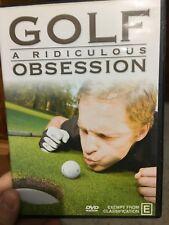 Golf - A Ridiculous Obsession region 4 DVD (sports) * rare *
