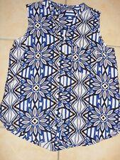 Katies Size 14 White Blue Black Top
