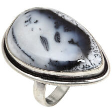 """Dendritic Opal Gemstone Gift For Birthday 925 Silver Jewelry Ring """"8"""""""