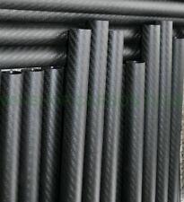 3K Roll Wrapped Carbon Fiber Tube/Pole OD 35mm ID 33mm*500mm Matt Surface