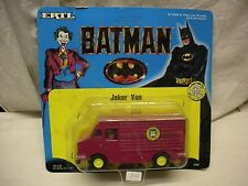 BATMAN JOKER VAN 12 cm #2494 1989 DIE CAST DC COMICS ERTL MINT IN CARD