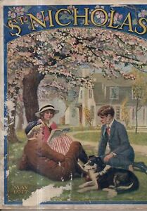 1917 St. Nicholas May - Collie; Marie Curie; Russia revolts; Indian Bicycle ad;